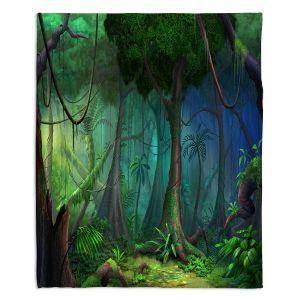 Decorative Fleece Throw Blankets | Philip Straub - Rainforest | landscape nature jungle tree