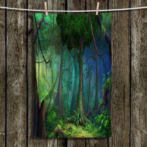 Unique Bathroom Towels | Philip Straub - Rainforest | landscape nature jungle tree