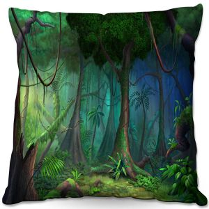 Throw Pillows Decorative Artistic | Philip Straub - Rainforest | landscape nature jungle tree