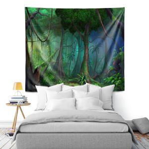 Artistic Wall Tapestry | Philip Straub - Rainforest | landscape nature jungle tree