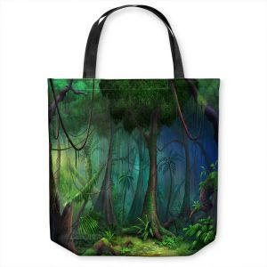 Unique Shoulder Bag Tote Bags | Philip Straub - Rainforest | landscape nature jungle tree