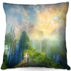 Throw Pillows Decorative Artistic | Philip Straub - Road to Oalovah 2 | landscape fantasy nature castle