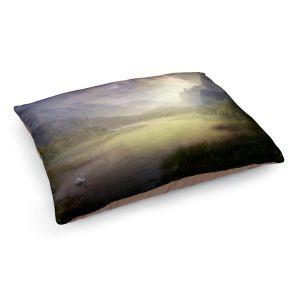 Decorative Dog Pet Beds | Philip Straub - Silent Morning | landscape pond swan mountains