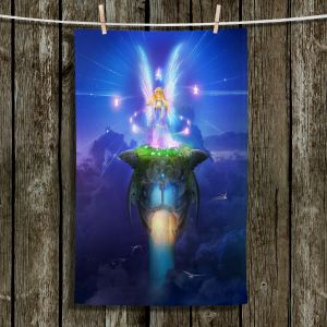 Unique Hanging Tea Towels | Philip Straub - Star Gazer | Fairy Child Fantasy Mystical