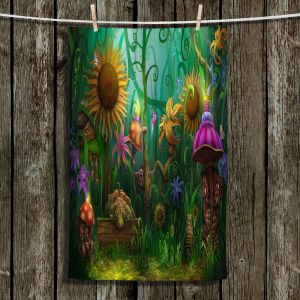 Unique Bathroom Towels   Philip Straub - The Imaginaries   fantasy creature whimsical sunflower