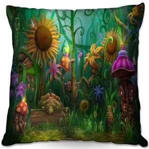 Throw Pillows Decorative Artistic | Philip Straub - The Imaginaries | fantasy creature whimsical sunflower