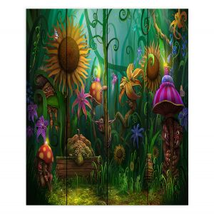 Decorative Wood Plank Wall Art | Philip Straub - The Imaginaries | fantasy creature whimsical sunflower