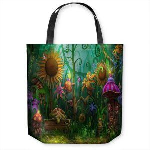 Unique Shoulder Bag Tote Bags | Philip Straub - The Imaginaries | fantasy creature whimsical sunflower