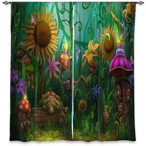 Decorative Window Treatments | Philip Straub - The Imaginaries | fantasy creature whimsical sunflower