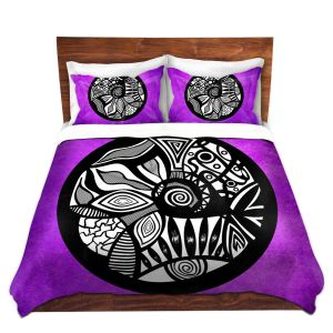 Artistic Duvet Covers and Shams Bedding   Pom Graphic Design - Abstract Circle Purple