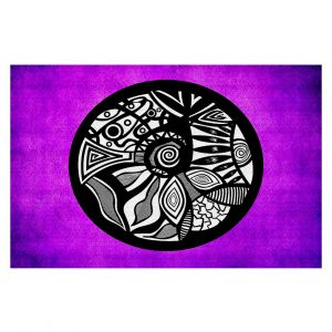 Decorative Floor Coverings | Pom Graphic Design Abstract Circle Purple
