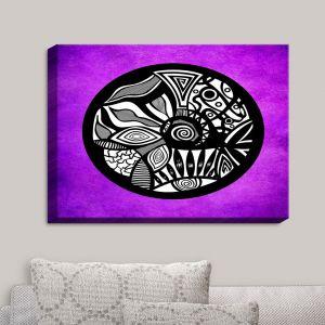 Decorative Canvas Wall Art | Pom Graphic Design - Abstract Circle Purple