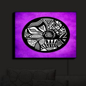 Nightlight Sconce Canvas Light | Pom Graphic Design - Abstract Circle Purple | Patterns Abstract