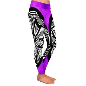Casual Comfortable Leggings | Pom Graphic Design Abstract Circle Purple