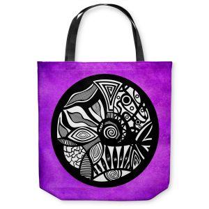 Unique Shoulder Bag Tote Bags | Pom Graphic Design Abstract Circle Purple