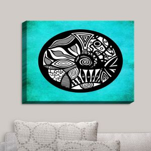 Decorative Canvas Wall Art | Pom Graphic Design - Abstract Circle Turquoise