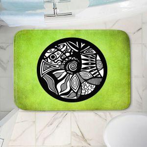 Decorative Bathroom Mats | Pom Graphic Design - Abstract Circle Verde