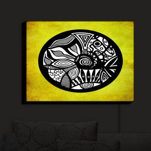 Nightlight Sconce Canvas Light | Pom Graphic Design - Abstract Circle Yellow | Patterns Abstract