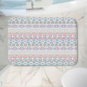 Decorative Bathroom Mats | Pom Graphic Design - African Dreams | Pattern tribal native pastel