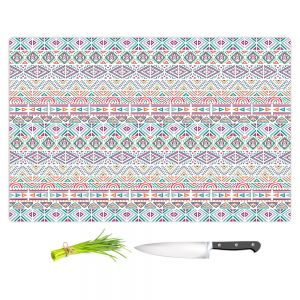 Artistic Kitchen Bar Cutting Boards | Pom Graphic Design - African Dreams | Pattern tribal native pastel