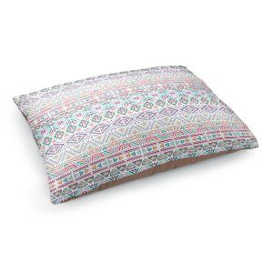 Decorative Dog Pet Beds | Pom Graphic Design - African Dreams | Pattern tribal native pastel