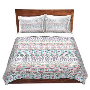 Artistic Duvet Covers and Shams Bedding | Pom Graphic Design - African Dreams | Pattern tribal native pastel