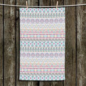 Unique Hanging Tea Towels | Pom Graphic Design - African Dreams | Pattern tribal native pastel