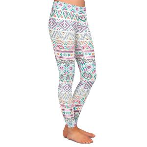 Casual Comfortable Leggings | Pom Graphic Design - African Dreams | Pattern tribal native pastel