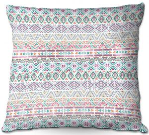 Decorative Outdoor Patio Pillow Cushion | Pom Graphic Design - African Dreams | Pattern tribal native pastel