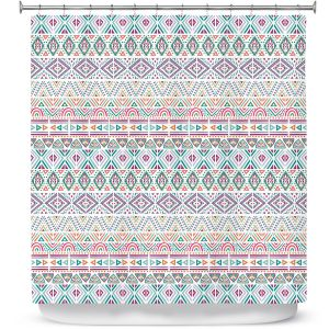 Premium Shower Curtains | Pom Graphic Design - African Dreams | Pattern tribal native pastel