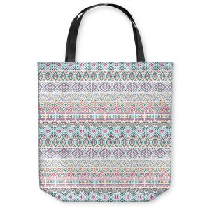 Unique Shoulder Bag Tote Bags | Pom Graphic Design - African Dreams | Pattern tribal native pastel