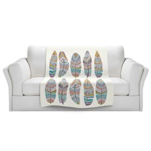 Artistic Sherpa Pile Blankets | Pom Graphic Design - Boho Feathers