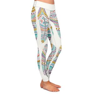 Casual Comfortable Leggings | Pom Graphic Design - Boho Feathers