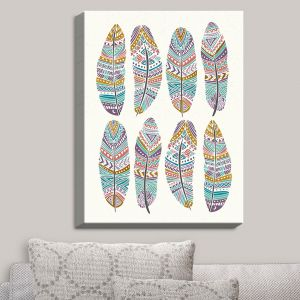 Decorative Canvas Wall Art | Pom Graphic Design - Boho Feathers | Feathers Boho