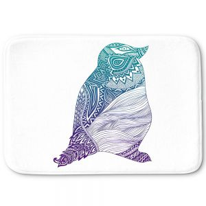 Decorative Bath Mat Small from DiaNoche Designs by Pom Graphic Design - Duotone Penguin