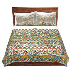 Artistic Duvet Covers and Shams Bedding | Pom Graphic Design - Egyptian Tribals | Egypt pattern