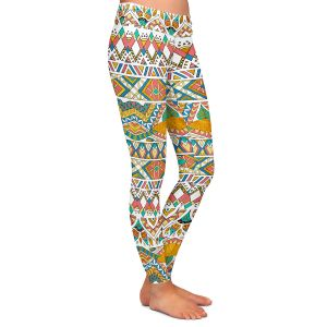 Casual Comfortable Leggings | Pom Graphic Design - Egyptian Tribals | Egypt pattern