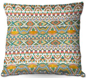 Decorative Outdoor Patio Pillow Cushion | Pom Graphic Design - Egyptian Tribals | Egypt pattern