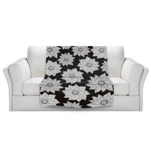 Artistic Sherpa Pile Blankets | Pom Graphic Design Elegant Floral