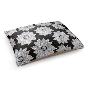 Decorative Dog Pet Beds | Pom Graphic Design's Elegant Floral