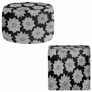 Round and Square Ottoman Foot Stools | Pom Graphic Design - Elegant Floral