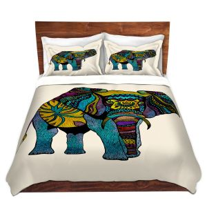 Artistic Duvet Covers and Shams Bedding | Pom Graphic Design - Elephant of Namibia | Animals Patterns Elephant