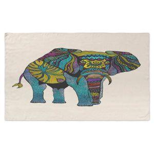 Artistic Pashmina Scarf | Pom Graphic Design - Elephant of Namibia | Animals Patterns Elephant