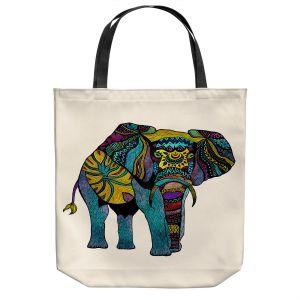 Unique Shoulder Bag Tote Bags   Pom Graphic Design - Elephant of Namibia   Animals Patterns Elephant