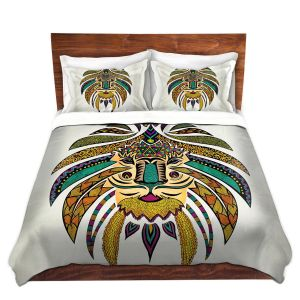 Artistic Duvet Covers and Shams Bedding | Pom Graphic Design - Emperor Tribal Lion I