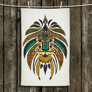 Unique Bathroom Towels | Pom Graphic Design - Emperor Tribal Lion I