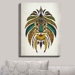 Decorative Canvas Wall Art | Pom Graphic Design - Emperor Tribal Lion I