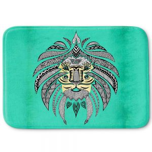 Decorative Bathroom Mats | Pom Graphic Design - Emperor Tribal Lion Turquesa