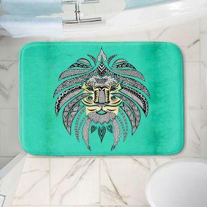Decorative Bathroom Mats | Pom Graphic Design - Emperor Tribal Lion Turquesa