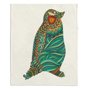 Artistic Sherpa Pile Blankets   Pom Graphic Design Ethnic Penguin